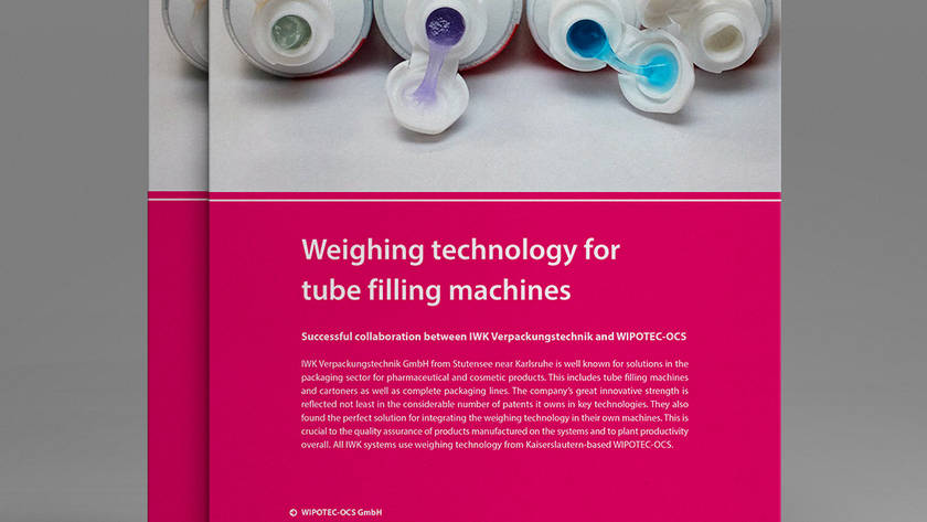 Weighing technology for tube filling machines