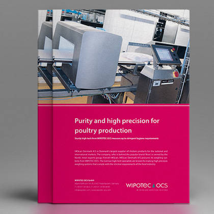 Washdown checkweighers in poultry processing factories