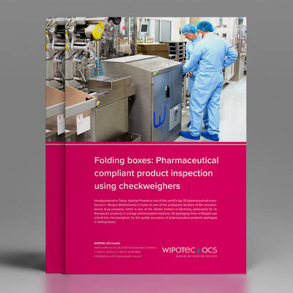 Folding boxes: Pharmaceutical compliant product inspection using checkweighers