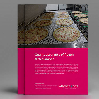 Application report: Quality assurance of frozen tarte flambée using dynamic checking and inspection systems