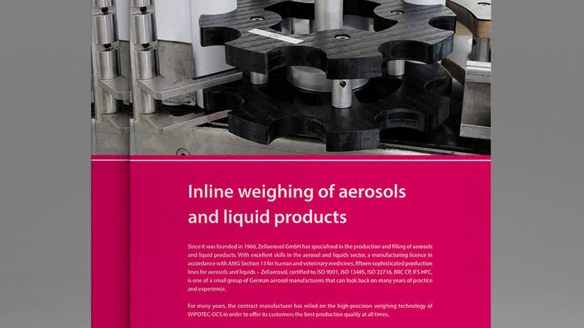 Inline weighing of aerosols and liquid products