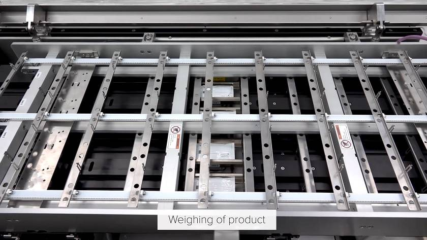 Fast and precise multi lane weighing of stickpacks