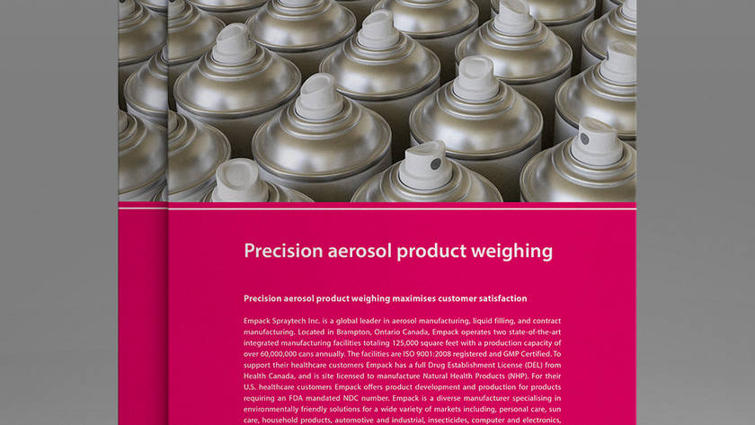 Precision aerosol product weighing