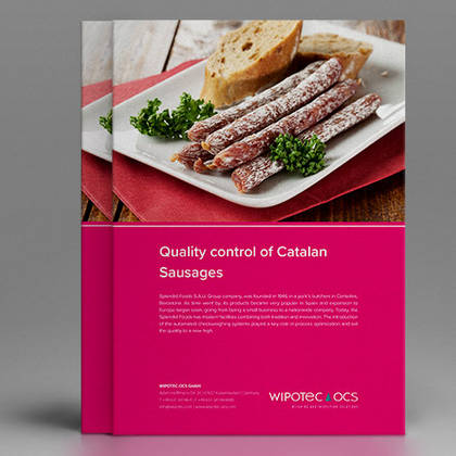 Application report: Quality control of dry-cured sausages with checkweighers