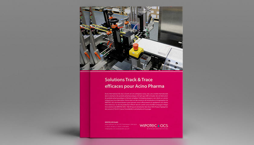 Efficient Track & Trace solutions for Acino Pharma
