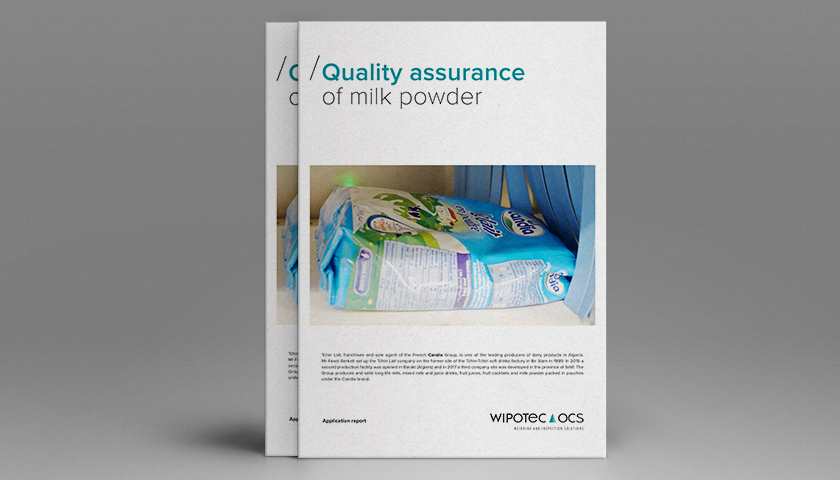 Application report: Quality assurance of milk powder