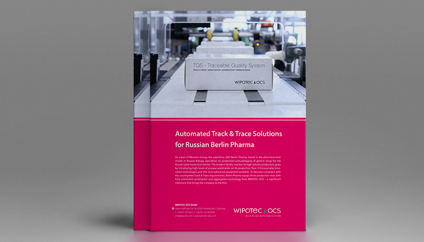 Application Report: Automated Track & Trace Solutions for Russian Berlin Pharma