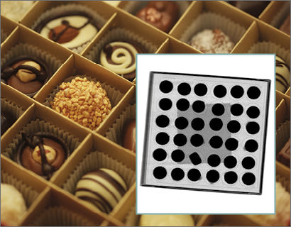 X-ray inspection of chocolates