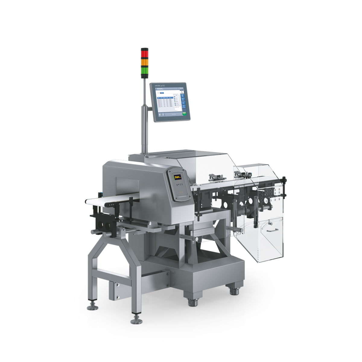 Checkweigher and metal detector HC-A-MDi left view