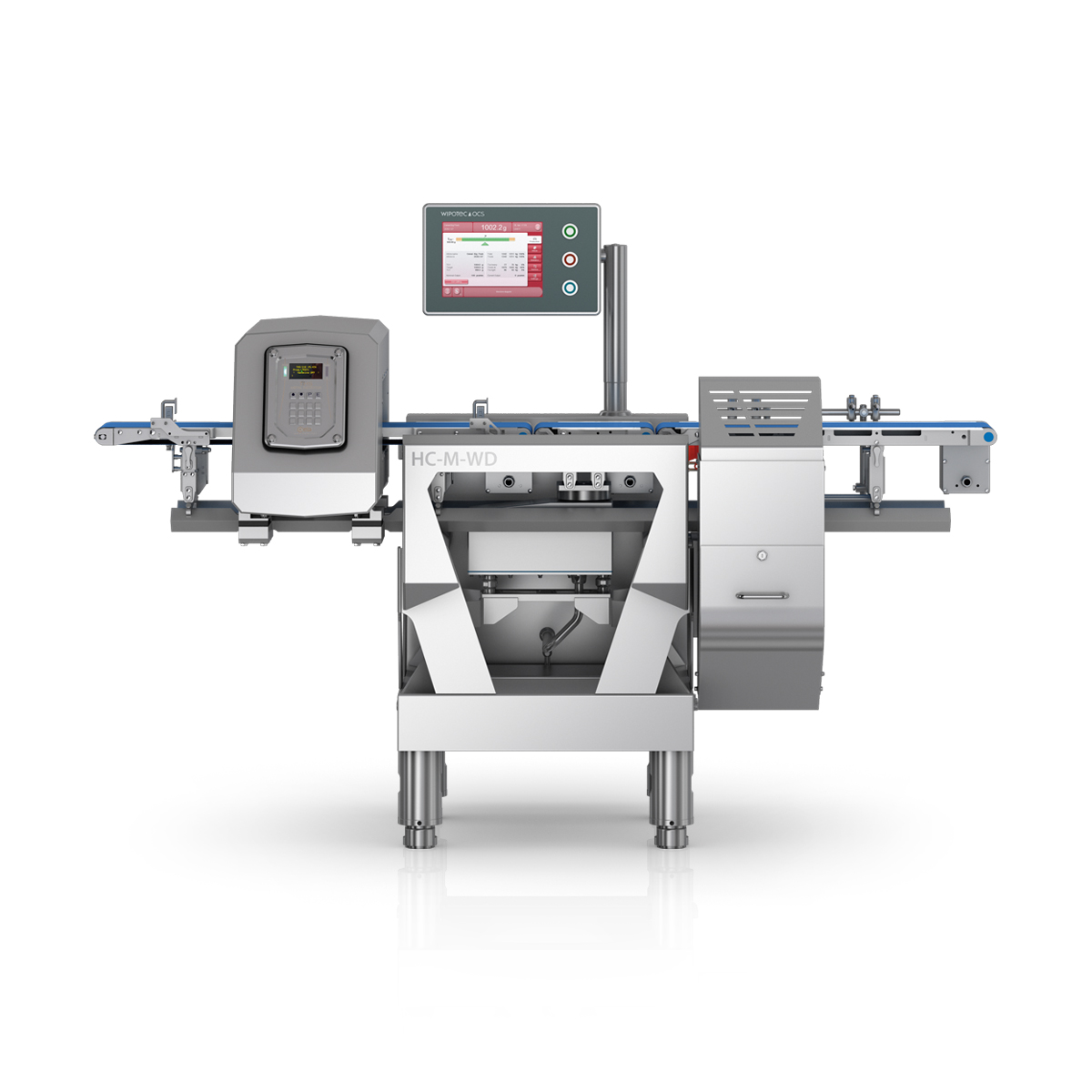Checkweigher and metal detector HC-M-WD-MDi front view