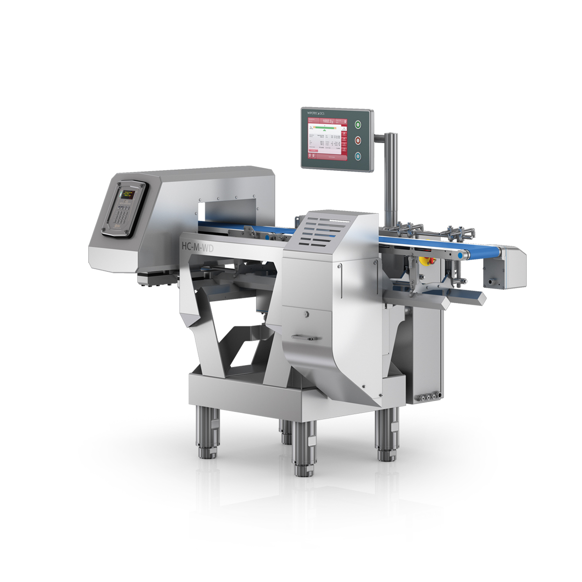 Checkweigher and metal detector HC-M-WD-MDi left view