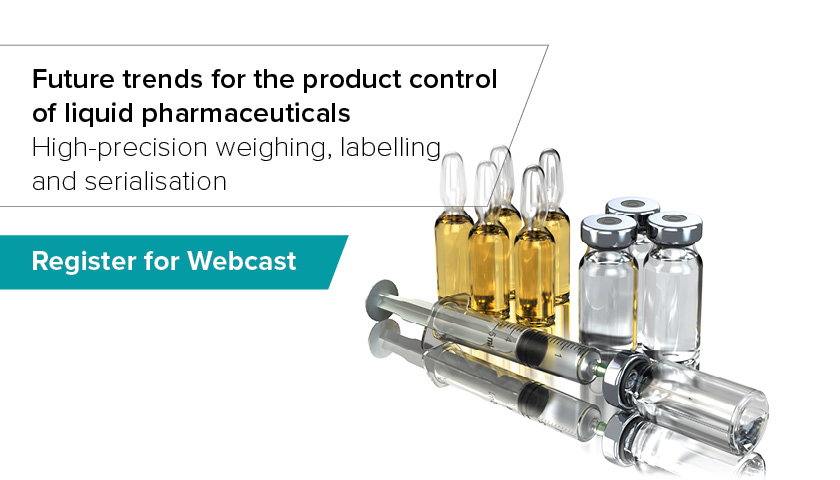 Webcast: Future trends for the product control of liquid pharmaceuticals